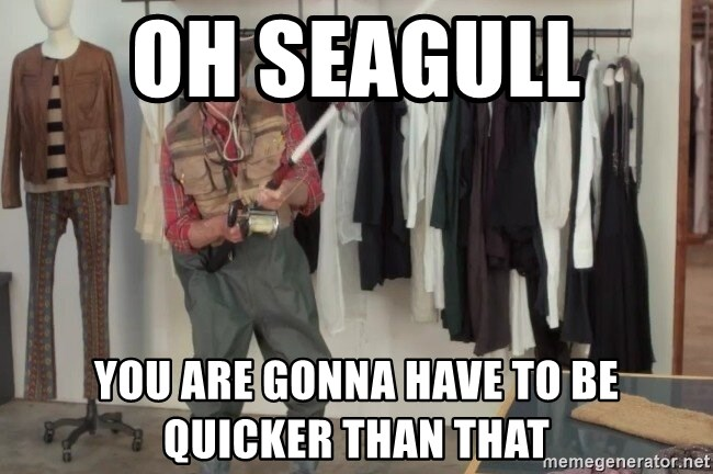 State Farm Fisherman - Oh Seagull  You are gonna have to be quicker than that