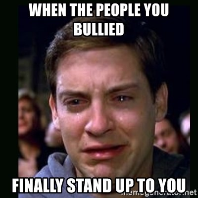 crying peter parker - when the people you bullied finally stand up to you