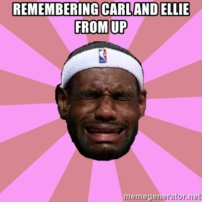 LeBron James - Remembering Carl and Ellie from Up