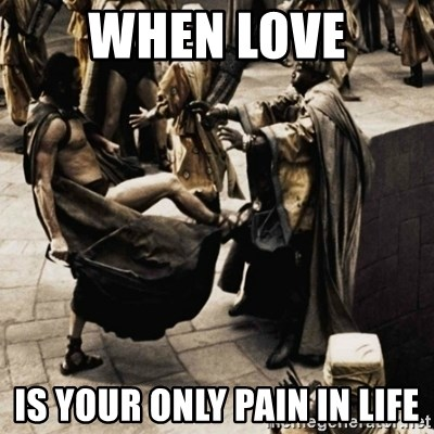 sparta kick - when love is your only pain in life