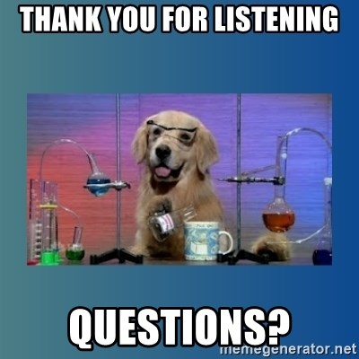 Chemistry Dog - THANK YOU FOR LISTENING QUESTIONS?