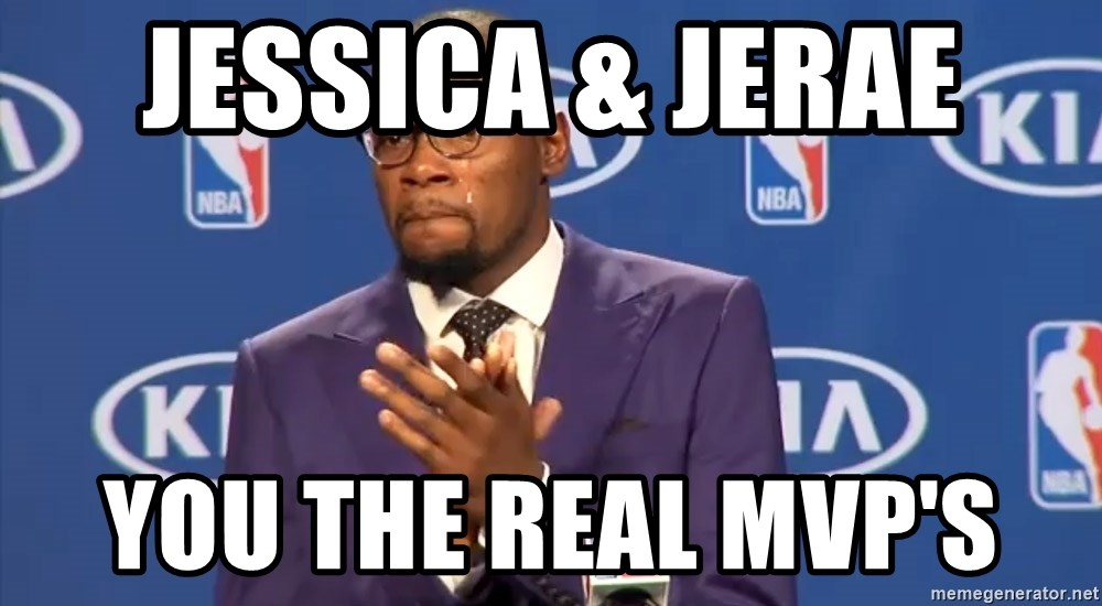 KD you the real mvp f - Jessica & Jerae  You the real MVP's