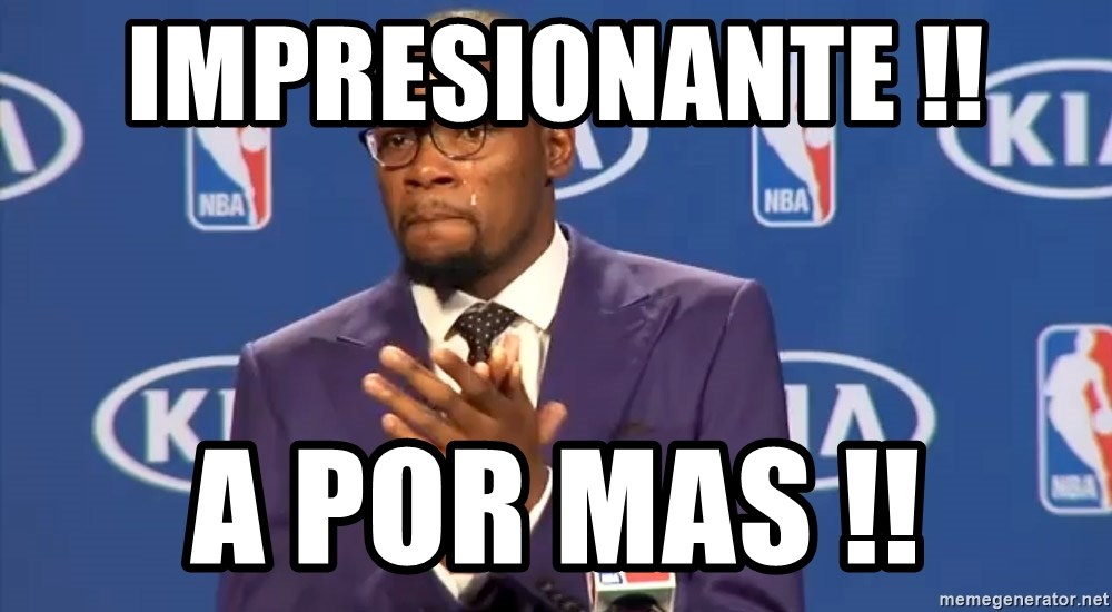 KD you the real mvp f - impresionante !!  a por mas !!