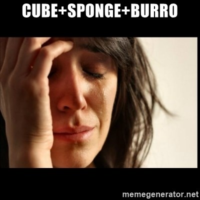 First World Problems - Cube+sponge+burro
