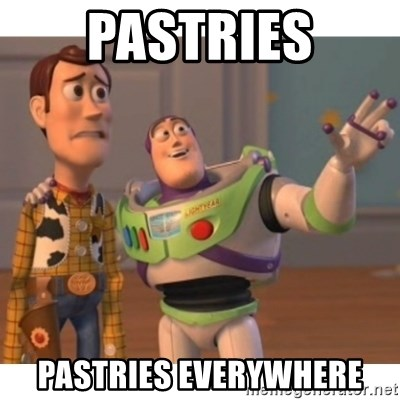 Toy story - Pastries Pastries everywhere
