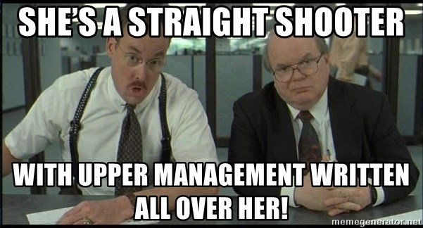 Office space - She's a straight shooter With upper management written all over her!