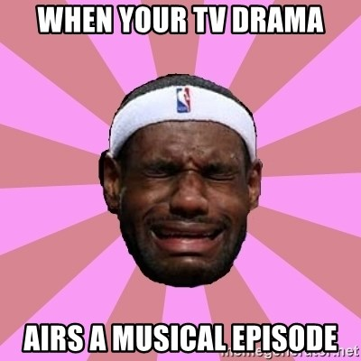 LeBron James - When your tv drama Airs a musical episode