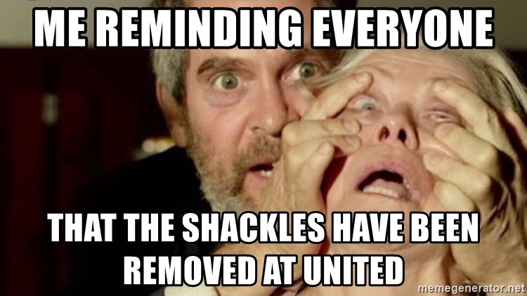 Birdbox open - Me reminding everyone  That the shackles have been removed at United