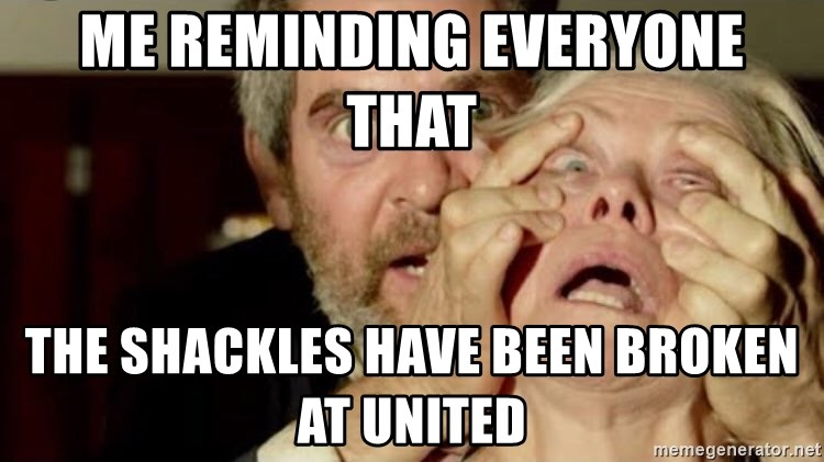 Birdbox open - Me reminding everyone that  The shackles have been broken at United