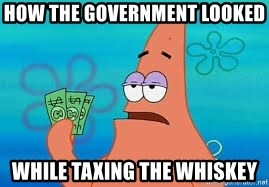 Thomas Jefferson Negotiating The Louisiana Purchase With France  - how the government looked  while taxing the whiskey