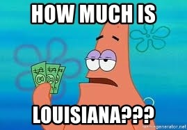 Thomas Jefferson Negotiating The Louisiana Purchase With France  - how much is  louisiana???