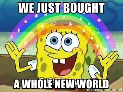 Imagination - We just bought a whole new world