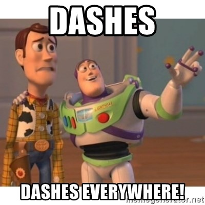 Toy story - Dashes Dashes Everywhere!
