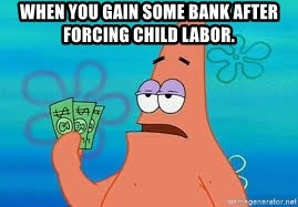 Thomas Jefferson Negotiating The Louisiana Purchase With France  - When you gain some bank after forcing child labor.