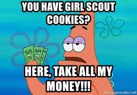 Thomas Jefferson Negotiating The Louisiana Purchase With France  - You have Girl Scout Cookies? Here, take all my money!!!
