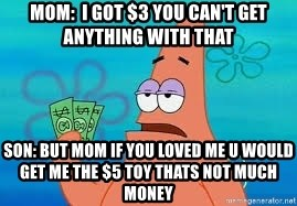 Thomas Jefferson Negotiating The Louisiana Purchase With France  - mom:  i got $3 you can't get anything with that son: but mom if you loved me u would get me the $5 toy thats not much money