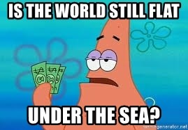 Thomas Jefferson Negotiating The Louisiana Purchase With France  - is the world still flat  under the sea?