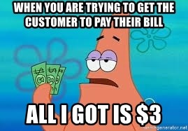 Thomas Jefferson Negotiating The Louisiana Purchase With France  - When you are trying to get the customer to pay their bill All i got is $3