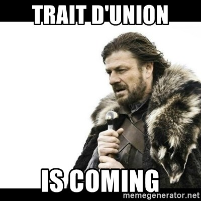 Winter is Coming - trait d'union is coming