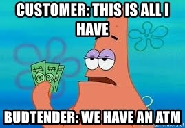 Thomas Jefferson Negotiating The Louisiana Purchase With France  - customer: this is all i have budtender: we have an atm