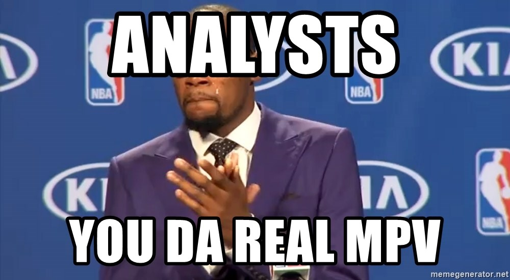 KD you the real mvp f - Analysts You da real MPV