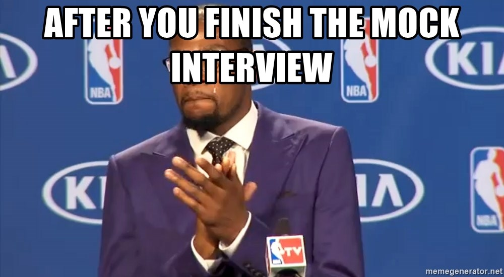 KD you the real mvp f - After you finish the mock interview