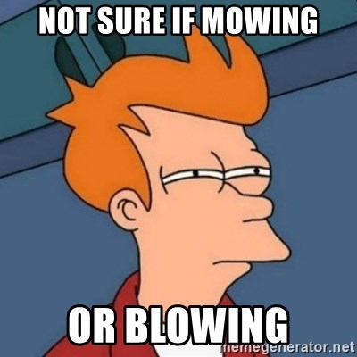 Not sure if troll - NOT SURE IF MOWING OR BLOWING