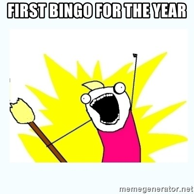 All the things - First Bingo for the year