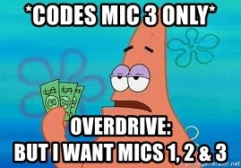 Thomas Jefferson Negotiating The Louisiana Purchase With France  - *Codes mic 3 only* Overdrive:                              but I want Mics 1, 2 & 3
