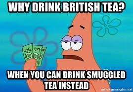 Thomas Jefferson Negotiating The Louisiana Purchase With France  - Why drink British tea? When you can drink smuggled tea instead