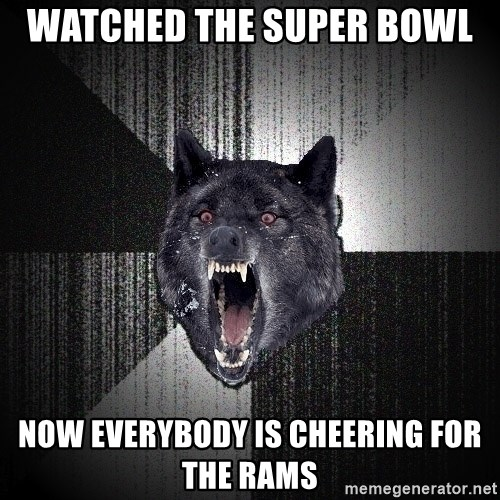 xymixihb - Watched the Super Bowl  Now everybody is cheering for the Rams