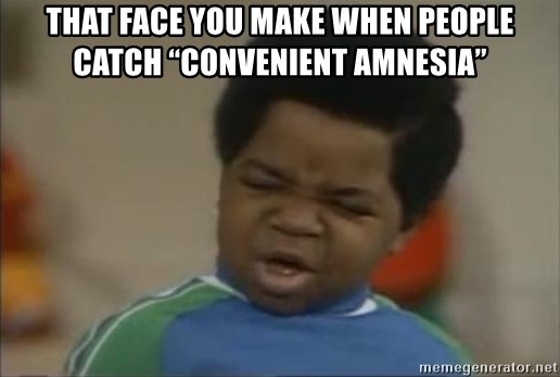 """Gary Coleman II - That face you make when people catch """"convenient amnesia"""""""
