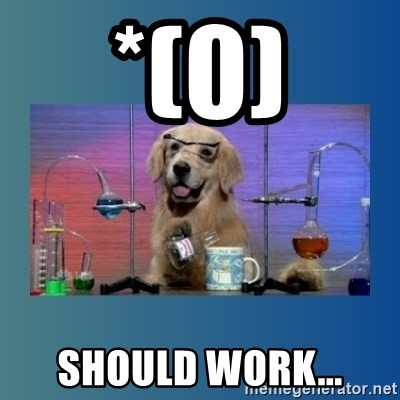 Chemistry Dog - *(0) Should work...