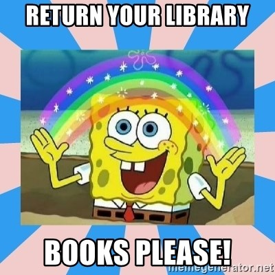 Spongebob Imagination - Return your library books please!