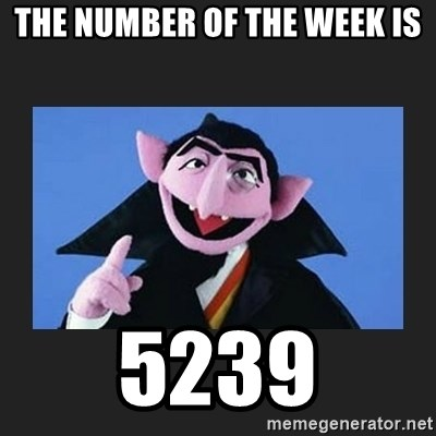 The Count from Sesame Street - The number of the week is 5239