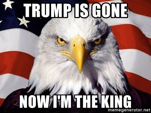American Pride Eagle - trump is gone now i'm the king