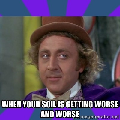 Sarcastic Wonka - when your soil is getting worse and worse