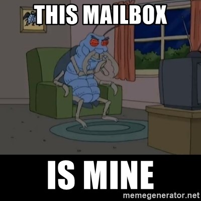 Family Guy Beetle - This Mailbox Is Mine