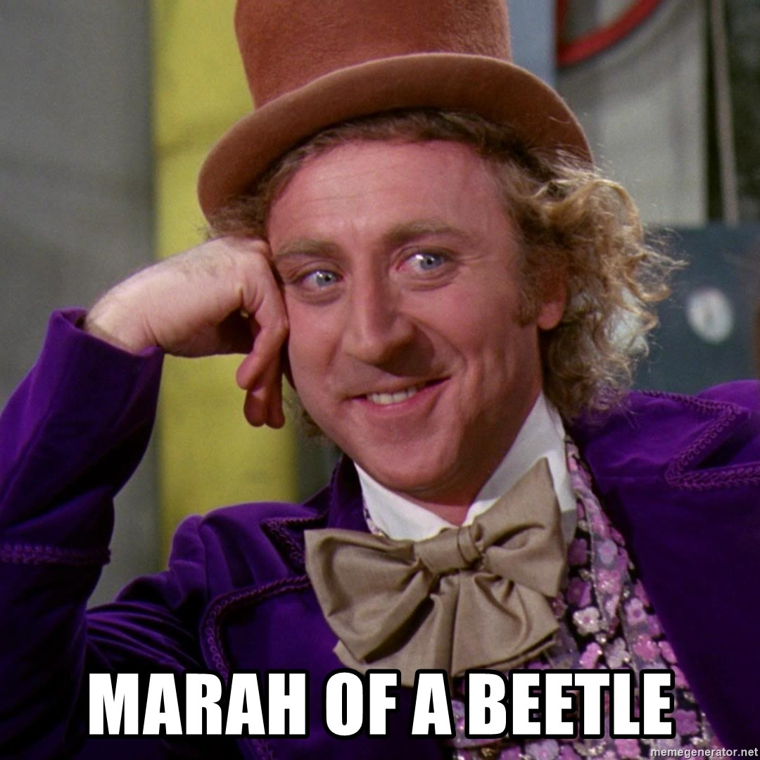 Willy Wonka - Marah of a beetle