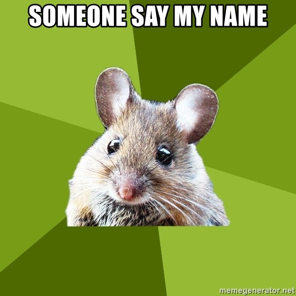 Prospective Museum Professional Mouse - someone say my name