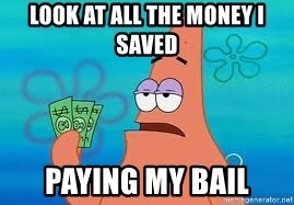 Thomas Jefferson Negotiating The Louisiana Purchase With France  - look at all the money i saved paying my bail