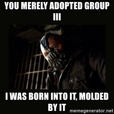 Bane Dark Knight - You merely adopted Group III I was born into it, molded by it