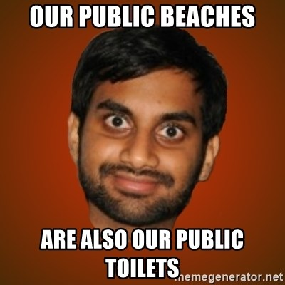 Generic Indian Guy - our public beaches are also our public toilets