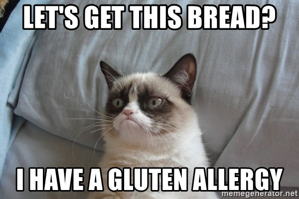 Grumpy cat good - Let's get this Bread? I have a gluten allergy