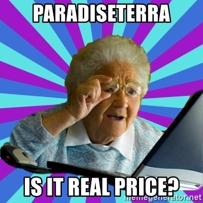 old lady - Paradiseterra Is it real price?