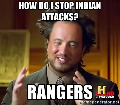 Ancient Aliens - How do I stop indian attacks? rangers