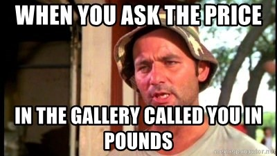 Bill Murray Caddyshack - When you ask the price In the gallery called you in pounds