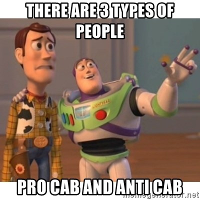 Toy story - There are 3 types of people Pro CAB and Anti CAB