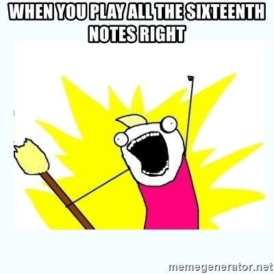All the things - When you play all the sixteenth notes right