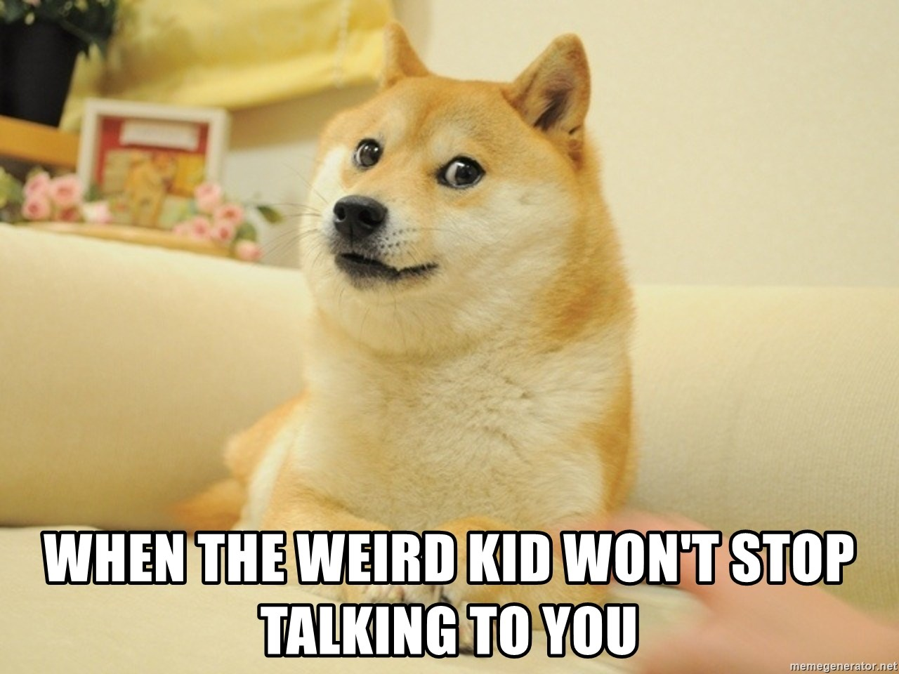 so doge - when the weird kid won't stop talking to you